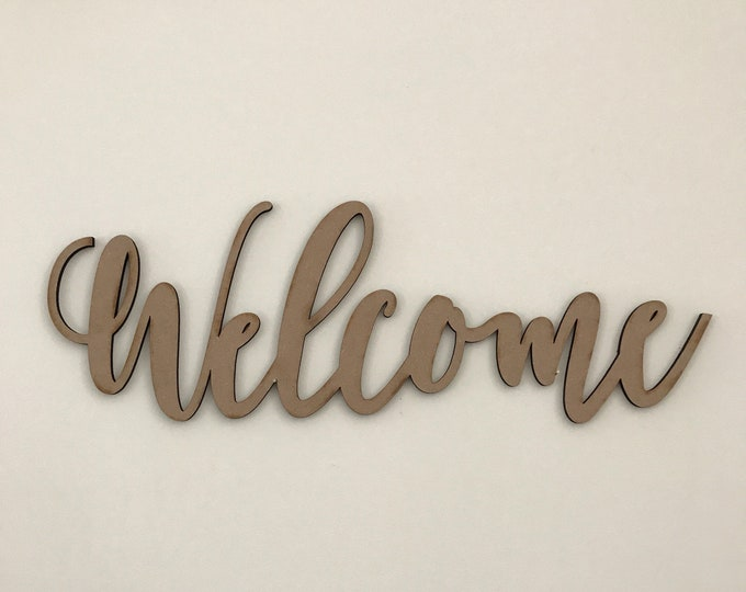 Rustic Welcome Sign - Farmhouse Decor - Rustic Home Decor - Laser Cut Welcome Home Sign