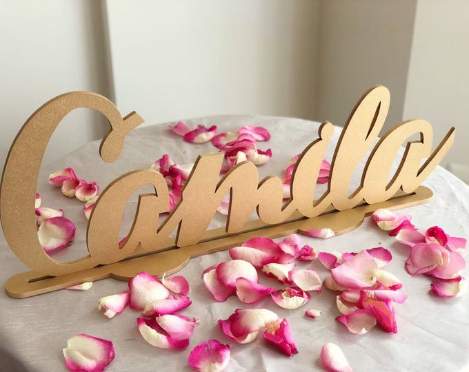 Personalized Child's Standing Name Sign - Laser Cut Sign