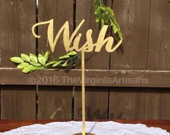 Wish Table Sign. Wedding Signage. Gold or Silver. Elegance Line.