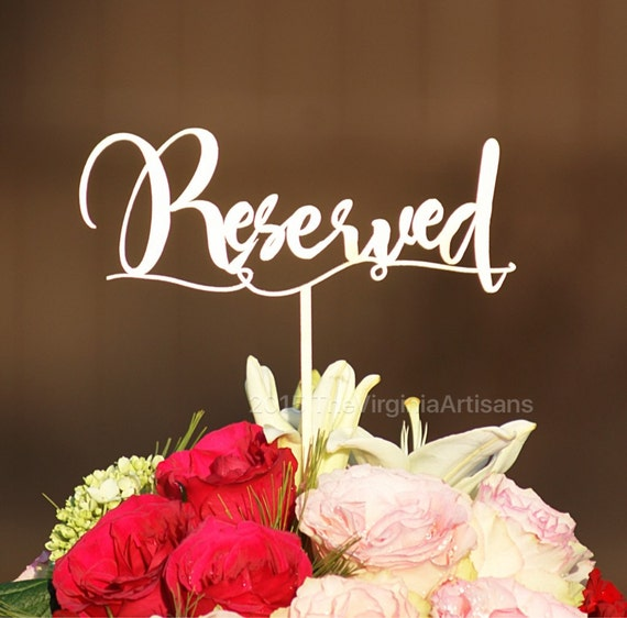 reserved table signs stands included set of 2 gold etsy