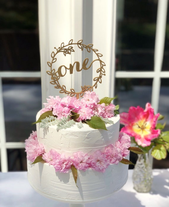 First Anniversary Cake Topper Anniversary Cake Topper One Etsy
