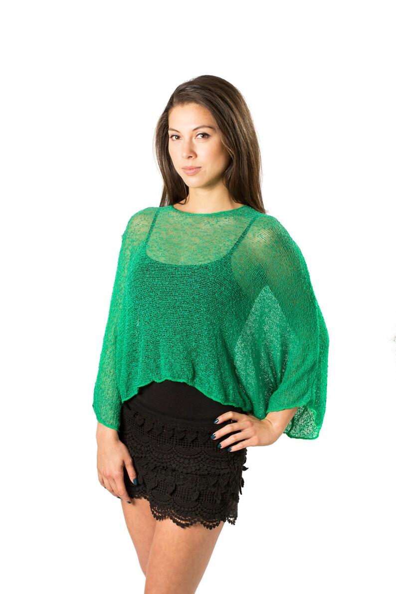 a6037f1006 Emerald Green 52 Prema Beach Cover-up Shirt & Tunic. Woven | Etsy