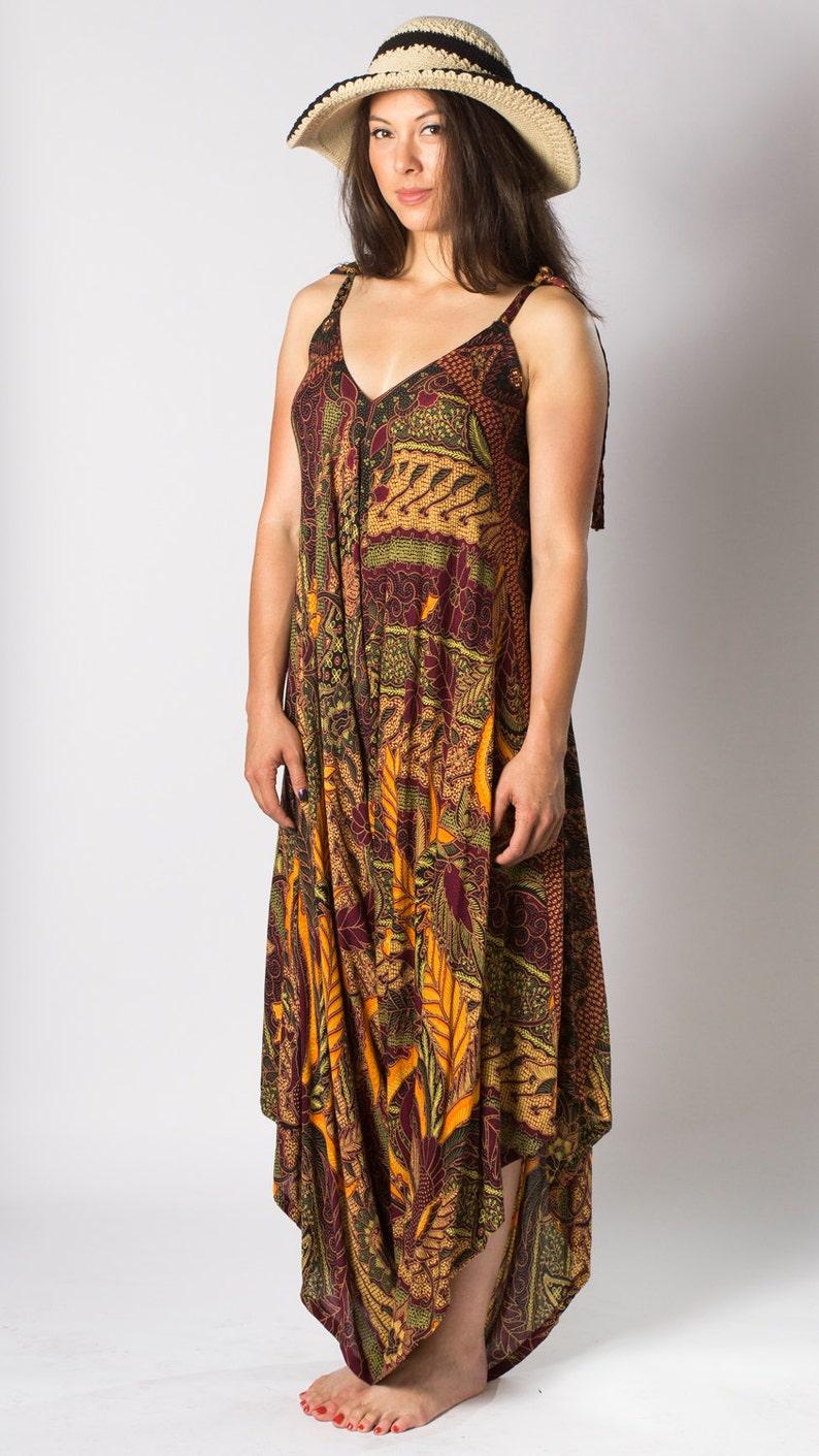 162ee5bba2f2c Wide Leg Womens Gypsy Long Jumpsuit Dress in Maroon