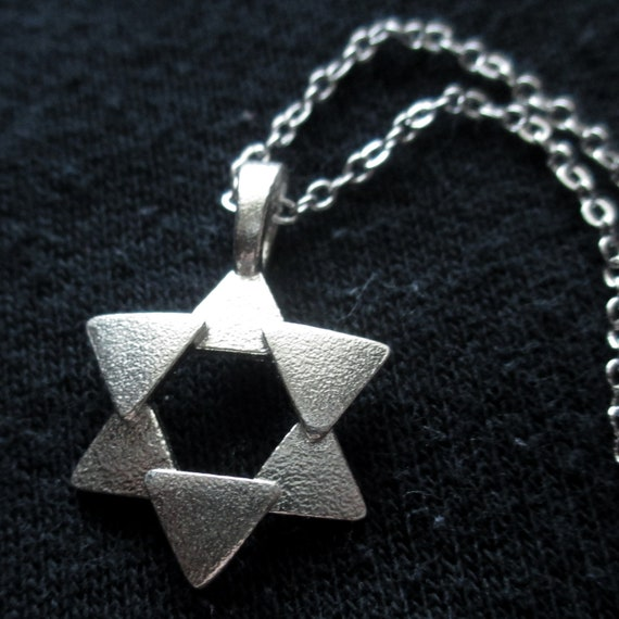 Abstract Star of David Necklace