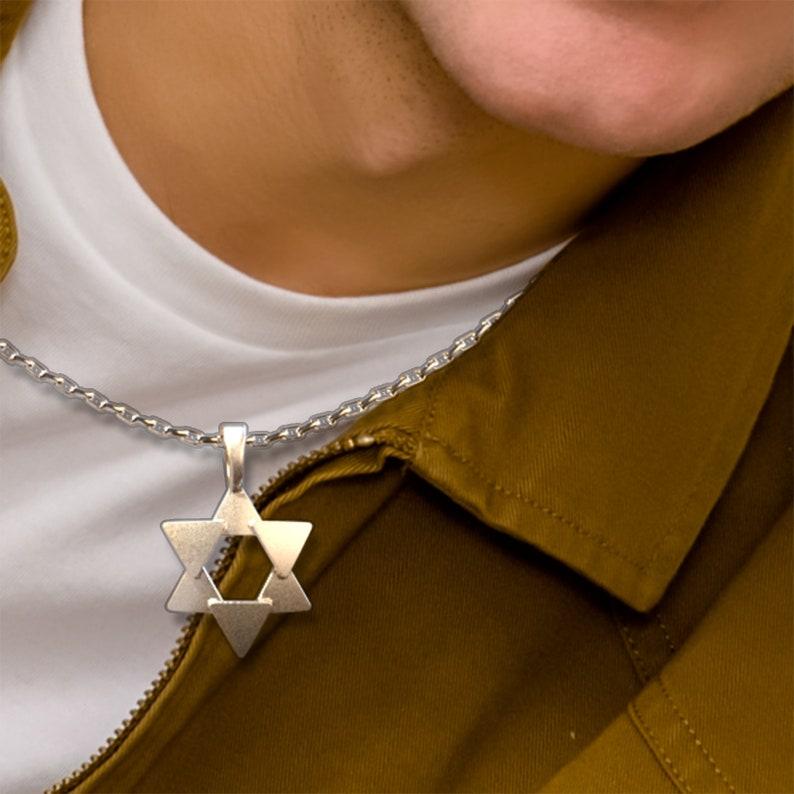 Abstract Star of David Charm Pendant image 0