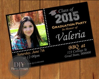 Graduation Invitation * Digital Party Invitation * You Print