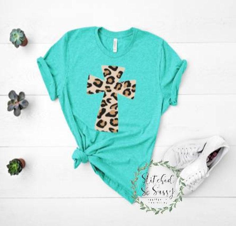 Leopard Cross vinyl shirt vinyl women/'s svg Bible vinyl shirt Easter cross vinyl shirt HTC