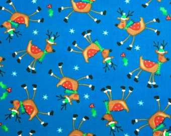 Timeless Treasures KIDZ 100/% Cotton Quilt Fabric-Per 1//2 yd reindeer Royal