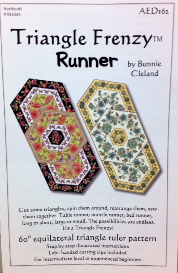 Triangle Frenzy Runner Quilt Pattern Placemats Etsy
