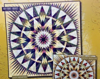 """AMAZON STAR Boxed Foundation Paper Piecing Quilt Pattern by Judy Niemeyer 104"""" X 104"""""""