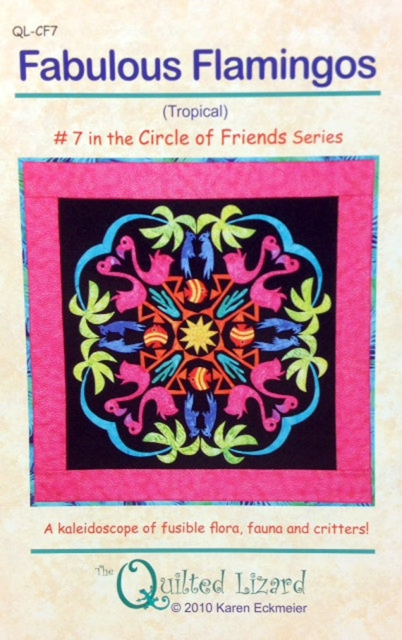 FABULOUS FLAMINGOES 7th In Circle Of Friends Series Applique