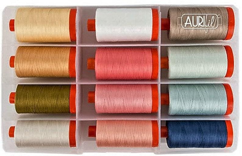 Sarah Vedeler TRANSFORMATION WARM Collection 12 Lg 50 wt Aurifil Thread Spools