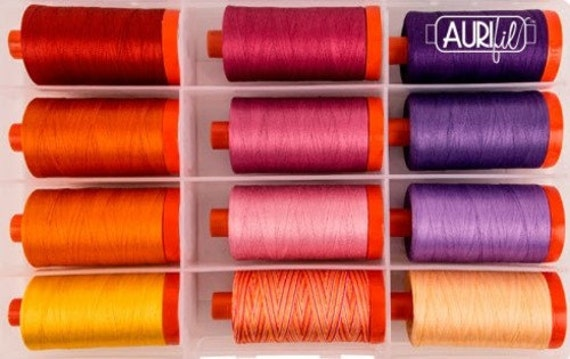 50 wt 1422 yards Dark Violet New AURIFIL Large Spool Thread 2582
