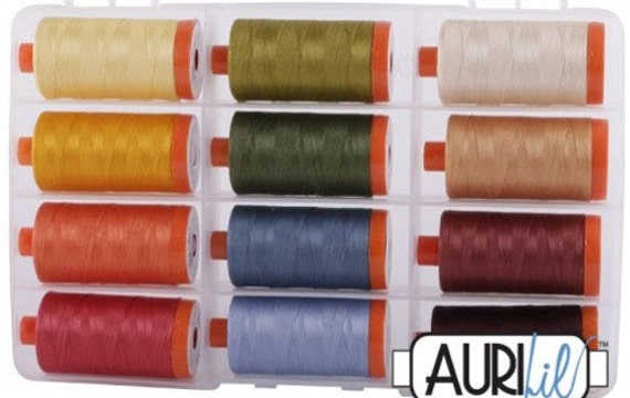 2210 New AURIFIL Large Spool Thread 50 wt 1422 yards Caramel