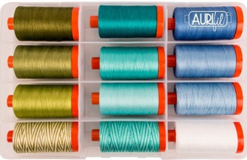 Jillily Studio EVERYDAY COLORS Collection Aurifil Thread 50 weight 12 Lg Spools