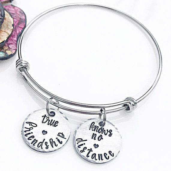 2ad61b443edd1 Best Friend Moving Away Gift, Bracelet for Friend Leaving, Farewell Gift  Best Friend, Friend Goodbye Bracelet, Long Distance Friendship