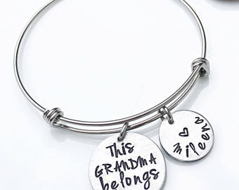 Grandma Gift, Bracelet for Grandma, Mother's Day Gift for Grandma, Personalized Grandmother Gifts, Jewelry for Grandma, Grandkids Names