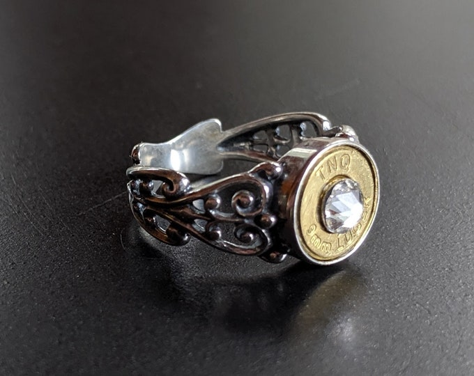 Badass Babe Filigree Sterling Silver Ring