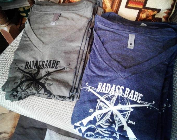 Badass Babe Logo V-Neck