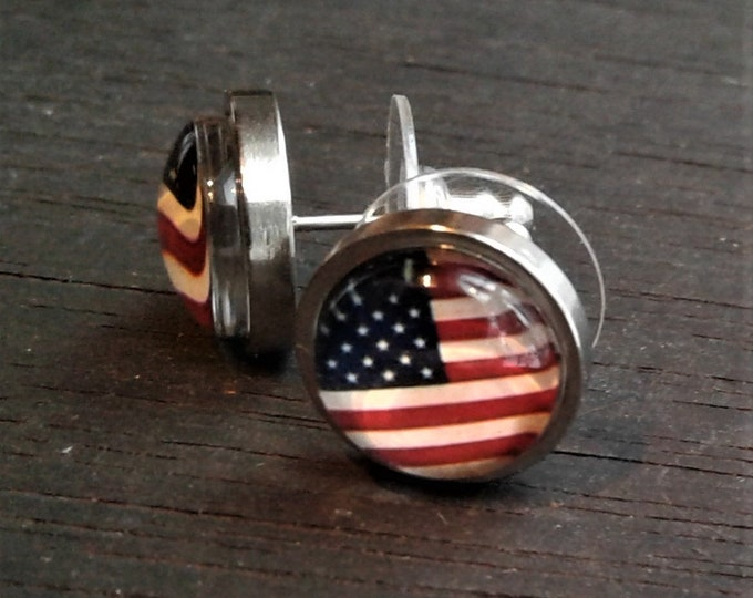 Bad Jenny Patriot Post Earrings