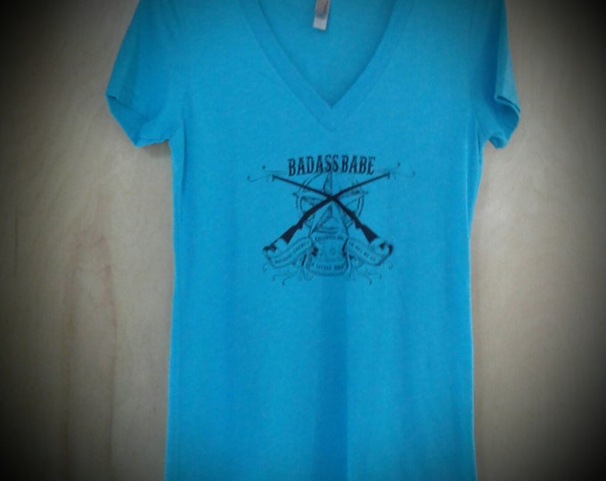 Sometimes Annual Leftover SALE Badass Babe Logo V-Neck Summer Colors
