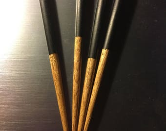Ebony and Oak Hair Sticks
