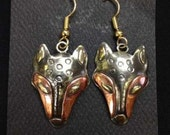 Wolf Spirit Mask earrings...