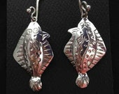 Halibut earrings made of ...