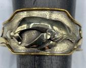 Humpback whale cuff bracelet