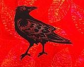 Standing Raven Quilt Bloc...