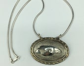 """Humpback Whale pendant with 18"""" serling silver snake chain"""