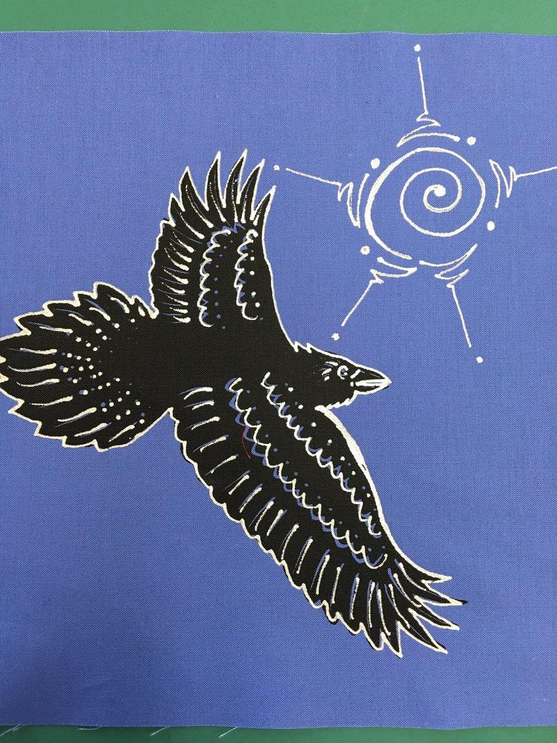 Flying Raven Quilt Block image 0