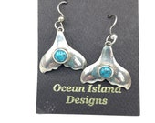 Whale Tails with Turquoise earrings