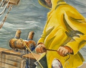 Fisherman Card by Colin Herforth