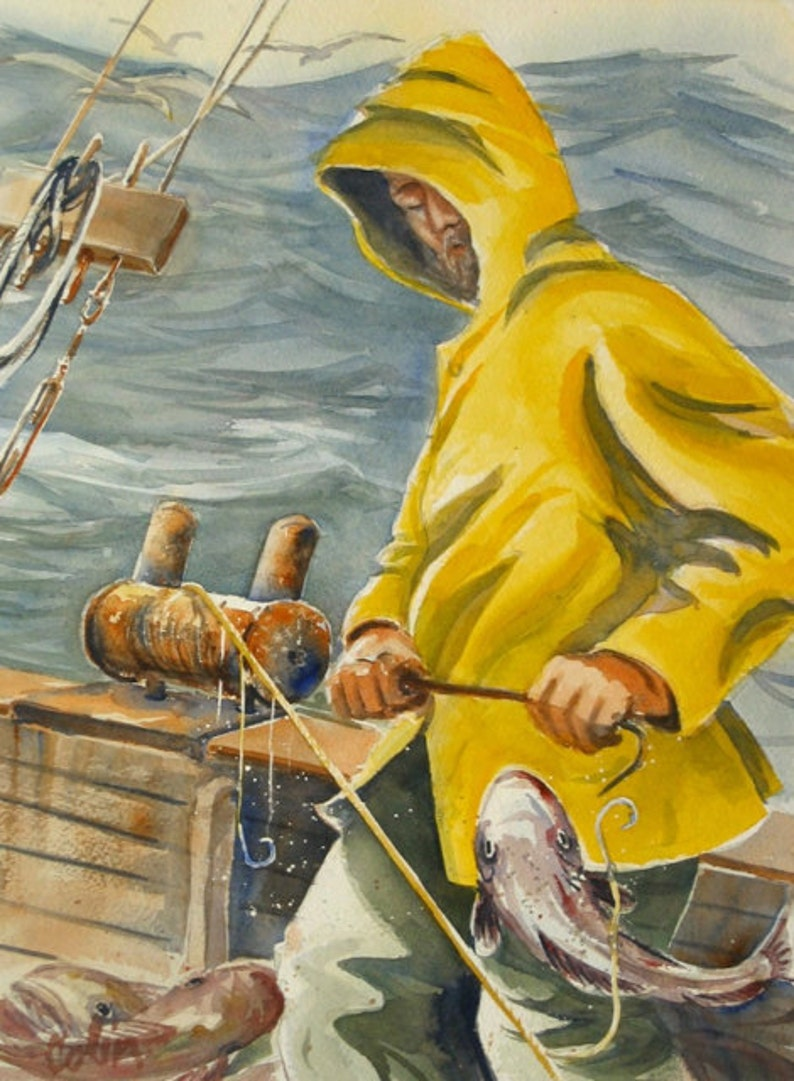 Fisherman Card by Colin Herforth image 0