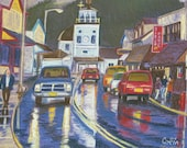 Lincoln St in Sitka Alaska by Colin Herforth