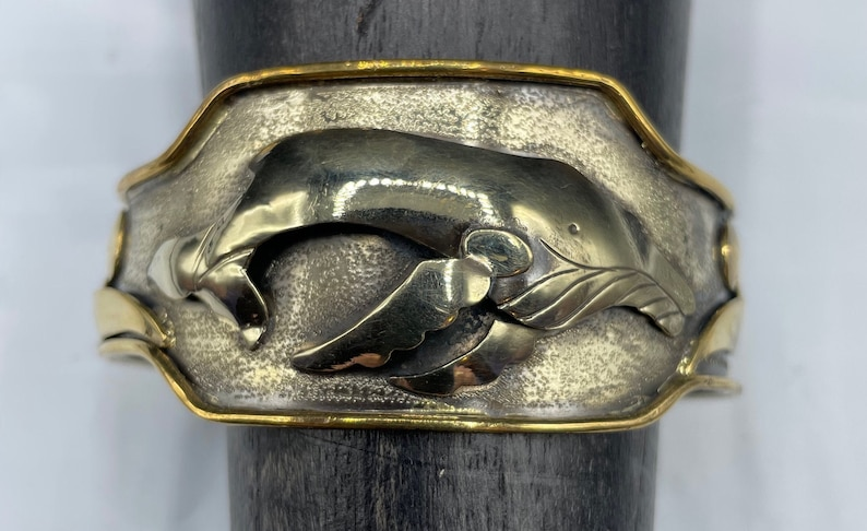 Humpback whale cuff bracelet image 0