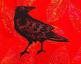 Standing Raven Quilt Block