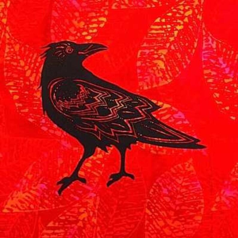 Standing Raven Quilt Block image 0