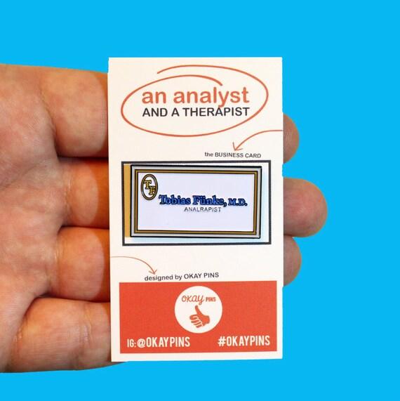 Tobias funke analrapist 15 enamel pin etsy tobias funke analrapist 15 enamel pin colourmoves