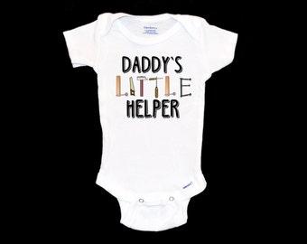 Daddy's Little Helper Onsie - Tool Onesie, Father's Day Gift, Infant Handyman Bodysuit, Baby Outfit, Newborn Baby Boy Gift, Onezie
