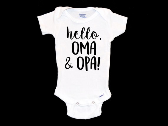 Surprise Oma And Opa Pregnancy Announcement Hello Oma Opa Etsy