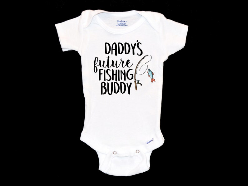 New Father Pregnancy Announcement Unique Gift. Daddy/'s Fishing Buddy Onesie Future Fly Fisherman Baby Onsie I/'d Rather Be Fishing