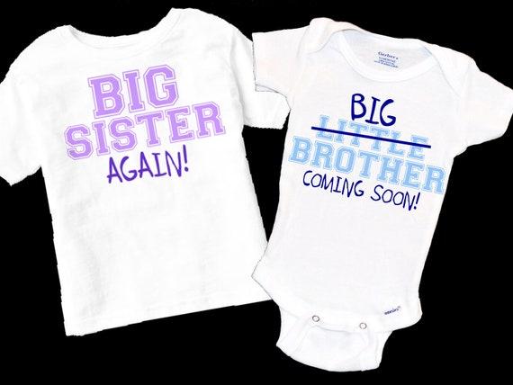 überraschung Schwangerschaft Drittes Kind Baby 3 Großer Bruder Und Schwester Wieder Buntstift Kinder Handschrift Kleiner Bruder