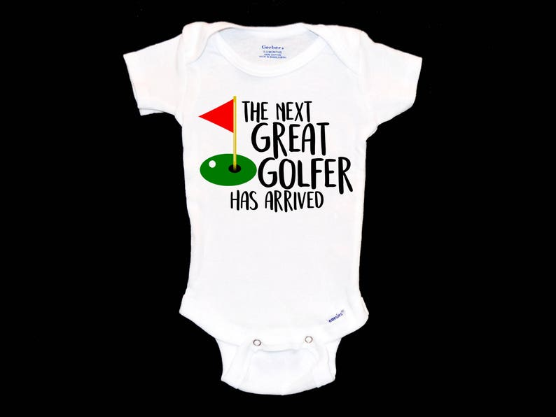 9ba2d3b140c16 Future Golfer Baby Onesie. Gift for Golf Fan Dad. Golf Lover. Professional  Golfer. PGA Tour Champion. The Masters. Great Golfer Has Arrived.