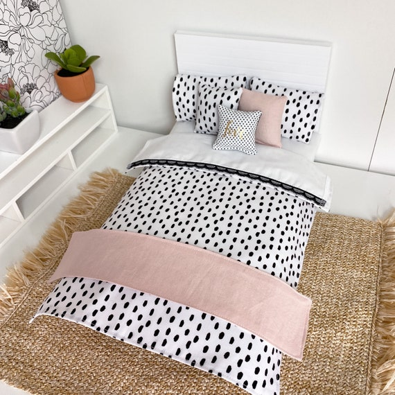 Details about  / 1//6 scale doll size bedding set for barbie dolls white and lace