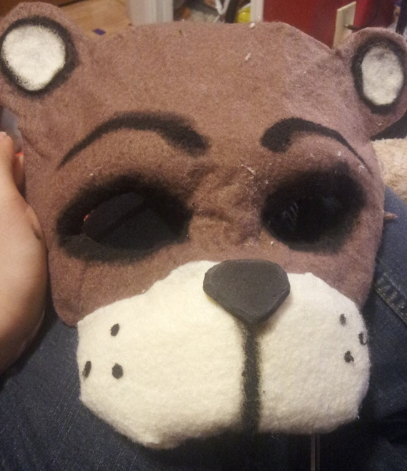 Fnaf Freddy Fazbear Half Mask Security Mask Etsy