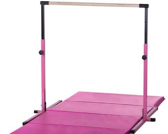 Purple Gymnastics Bar Pink Purple Folding Mat 3 5ft High
