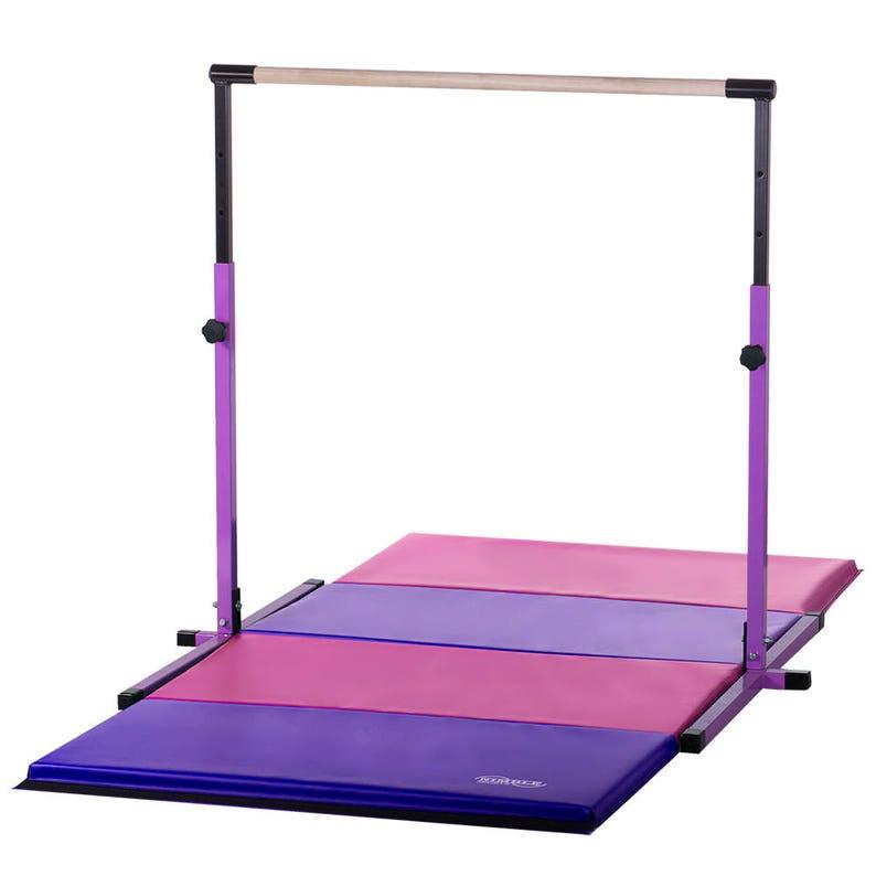 c68882c8672a Purple Gymnastics Bar & Pink/Purple Mat Combo Adjustable   Etsy