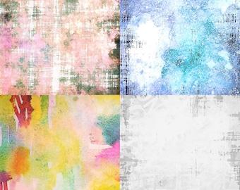 4 Vintage Grunge Printable Digital Art Background Abstract Pattern Images